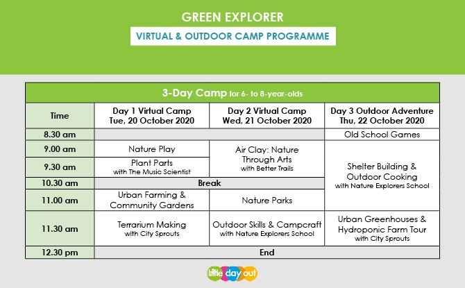 Little Day Out's Green Explorer Camp Programme