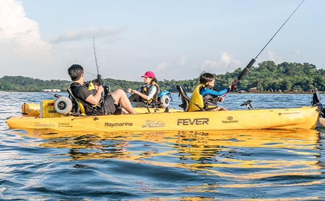 Family Review: Kayak Fishing At Changi With Kayak Fishing Fever Using SingapoRediscover Vouchers