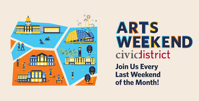 Arts Weekend Civic District by National Arts Council