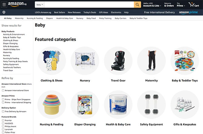 One-Stop Shopping at Amazon.sg