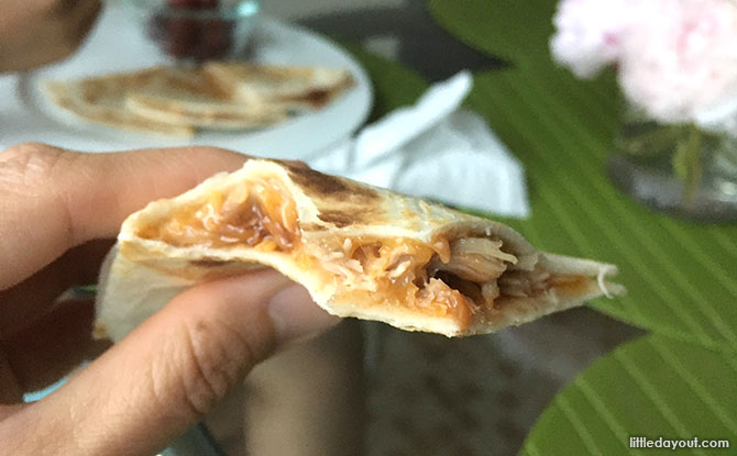 BBQ Chicken Cheese Quesadilla - It's a wrap