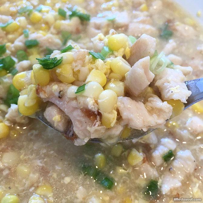 Creamy Corn with Chicken Served