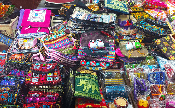 Bags for Sale at the Deepavali Festival Village
