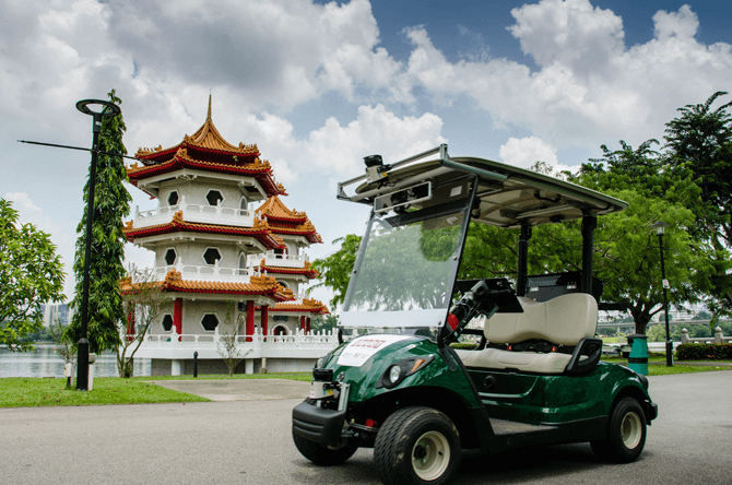 Driverless Vehicles at Chinese and Japanese Gardens