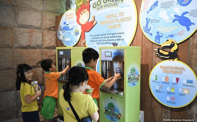 Water Dispenser at Singapore Zoo