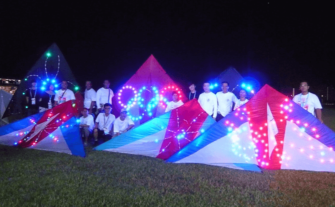 LED Kites - Earth Hour 2017