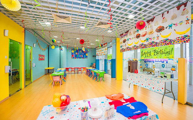 Birthday Party Room at The Polliwogs Vivocity