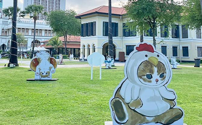 Paw-verbs on the Lawn: Cat Illustrations Pop-up At The Malay Heritage Centre