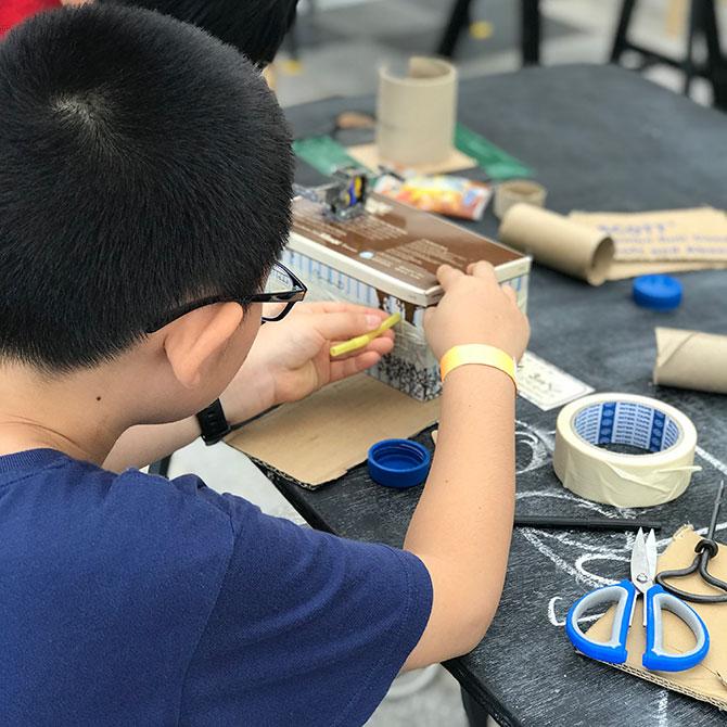 Playeum allows children to express themselves through play