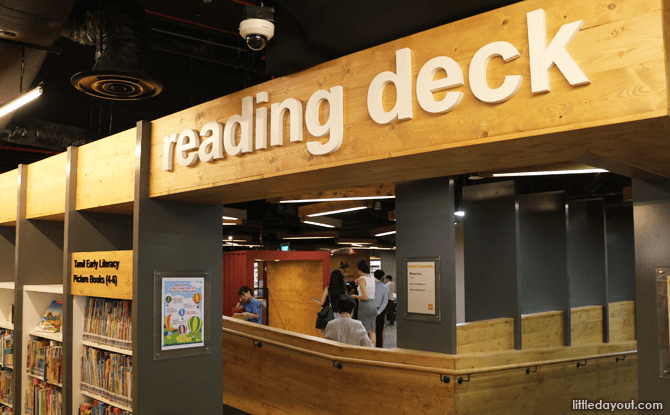 Reading Deck, Sembawang Library - Best libraries for kids in Singapore