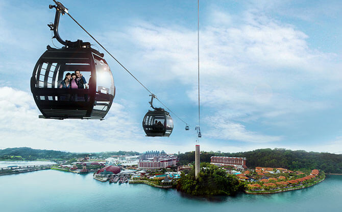 Singapore Cable Car - Fly to Sentosa