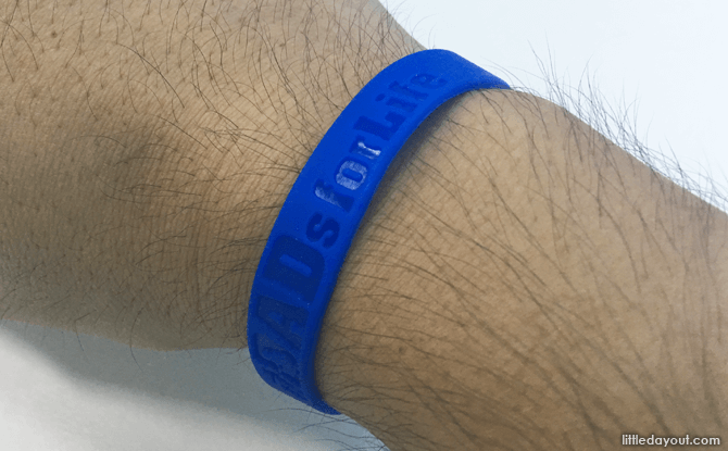 Dads for Life wristband, Father's Day 2017 Singapore