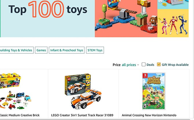 100 toys front page