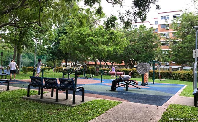 Exercise area at Aquaria Park