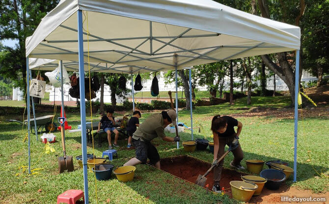 Archaeological Dig site at Fort Canning Park