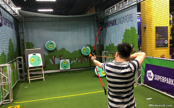 Archery Station at SuperPark