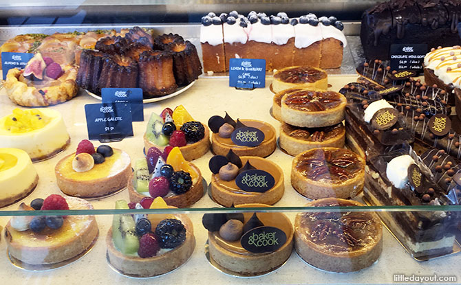 Freshly baked breads and tempting pastries at Baker & Cook