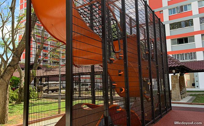 Blk 158, Bishan St 13 Playground: Wallhola Vertical Playground and Climbing Nets