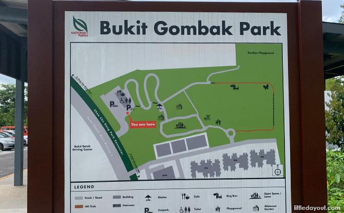 Bukit Gombak Park Map
