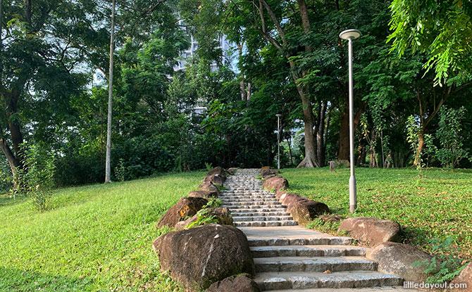 Climbing the Slope at Bukit Panjang Neighbourhood 2 Park