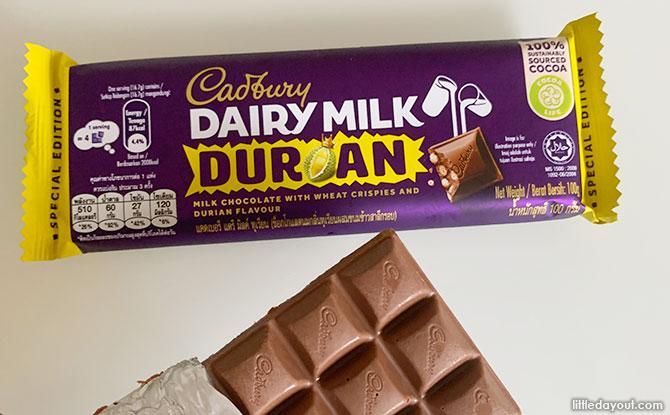 Durian chocolate bar