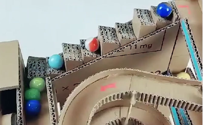 cardboard toy marbles