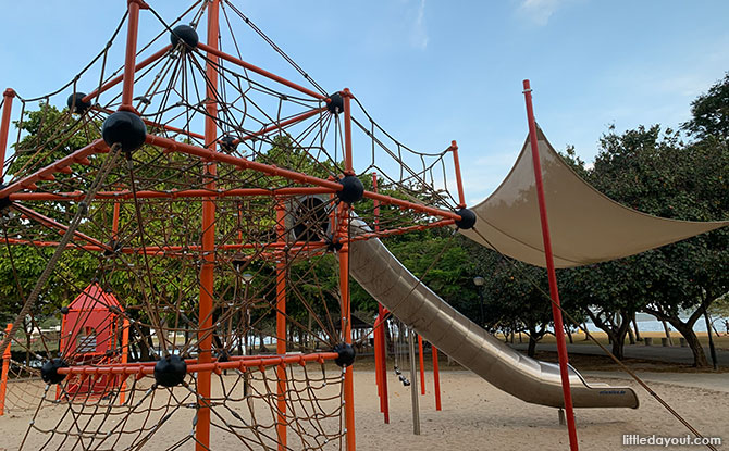 Changi Beach Park Playground: Climbing Nets