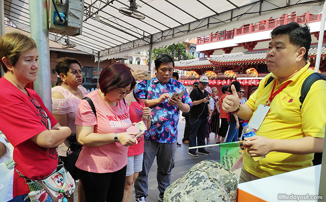 On a Singapore Chinatown Walking Tour with Guide