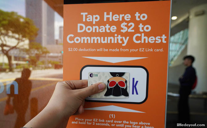 Tap To Make A Donation To The Community Chest At Smart Bus Stop Panels