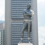 Painted Raffles Statue, Singapore River - Singapore Bicentennial