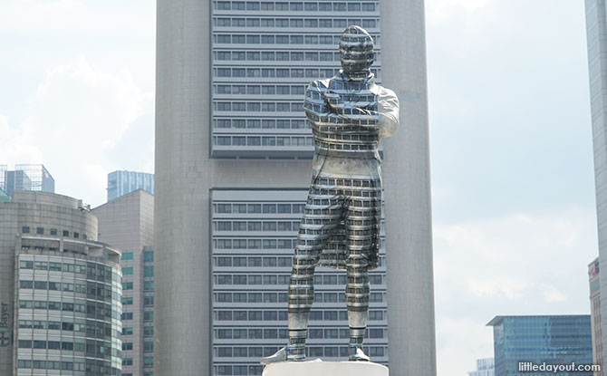 The Disappearing Raffles Statue: Painted Into The Background