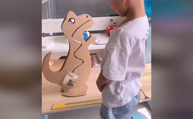 DIY Cardboard Toys: Dinosaur Money Bank, Driving Game & Slide