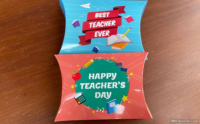 Famous Amos Teacher's Day Pillow Box
