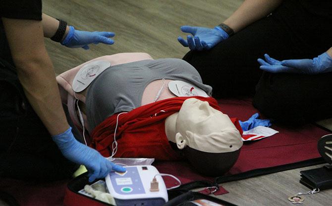 Singapore Heart Foundation's Female CPR Manikin Vest