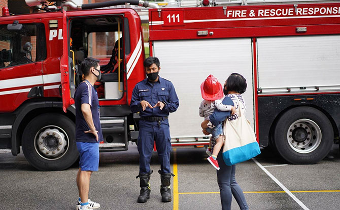 Safe Management Measures at Reopened Fire Station Open House - Restarted in August 2020