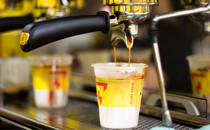 Flash Coffee's drink menu