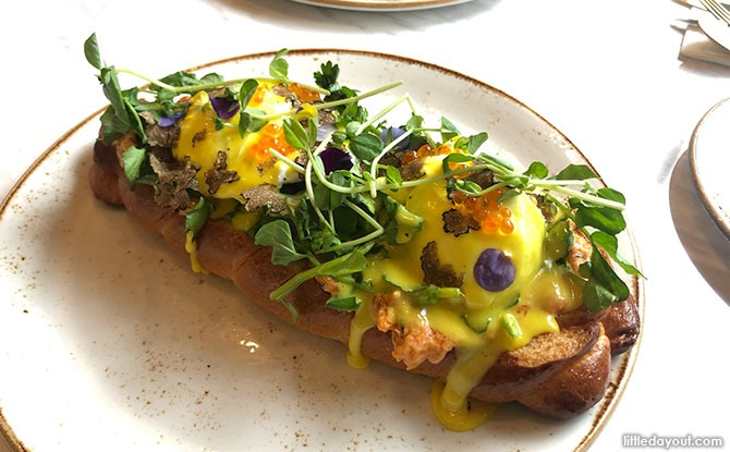 Forager's Eggs Benedict at Hathaway