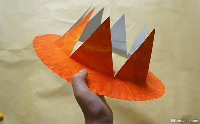 Paper Plate Tropical Hat Craft - Hat with Spikes