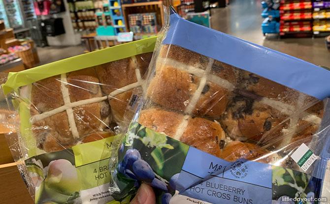 Marks & Spencer hot cross buns apple blueberry
