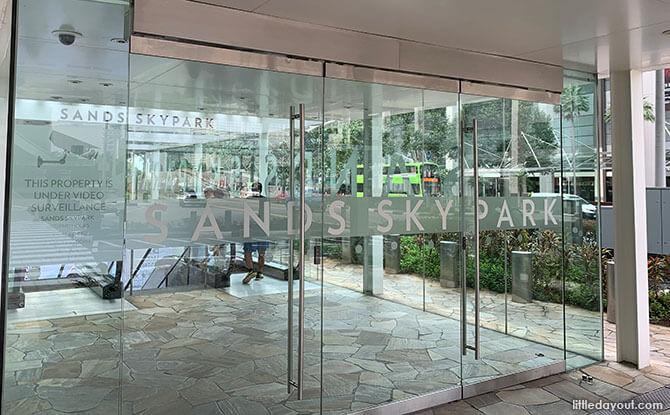 Entrance To Marina Bay Sands SkyPark Observation Deck