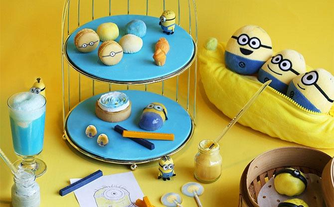 Mischievous Bites in Minion High Tea Set