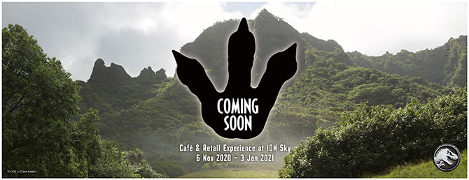 Jurassic World Café Singapore Is Coming To ION Sky