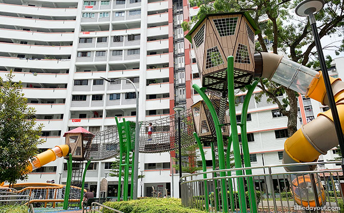 High Towers & Climbing Nets at Jurong East Street 24