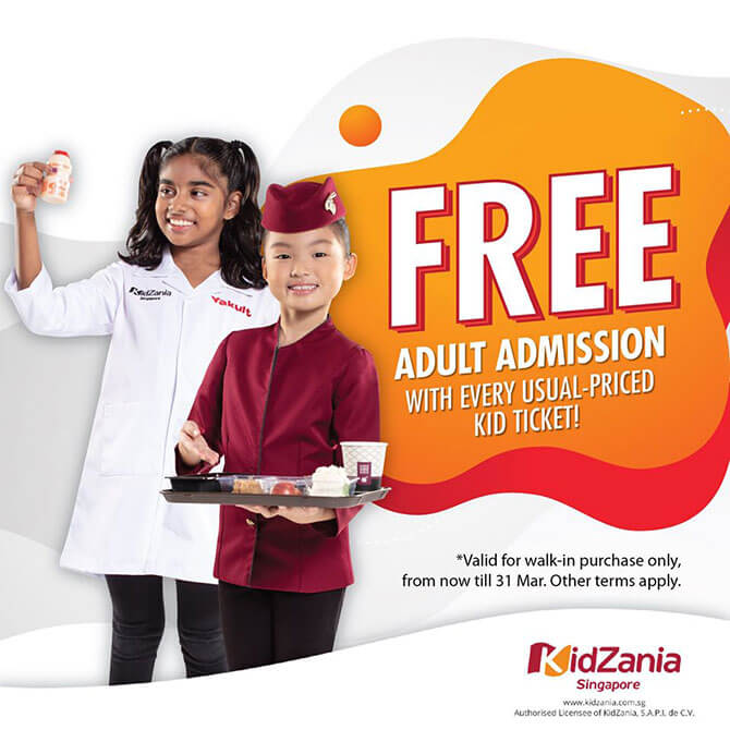 KidZania Singapore – Adults enter for FREE in March 2020