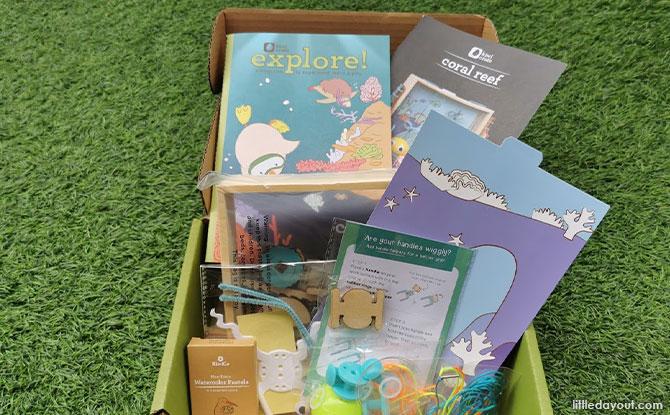 KiwiCo's Kiwi Crate Coral Reef Box contents