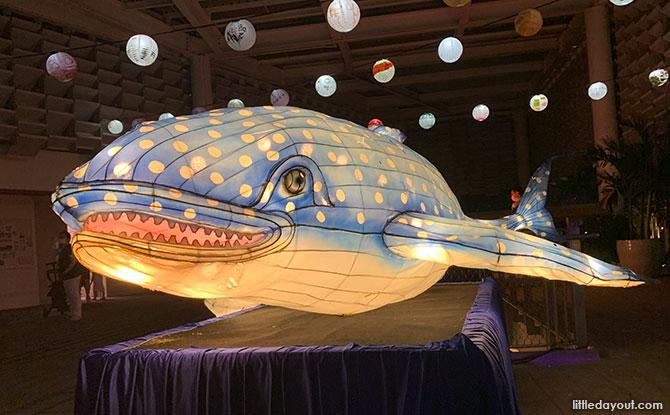 Whale Shark Lantern At Jurong Lake Gardens For The Mid-Autumn Festival 2021