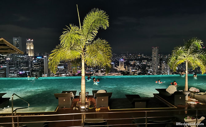 MBS Infinity Pool is only accessible to hotel guests