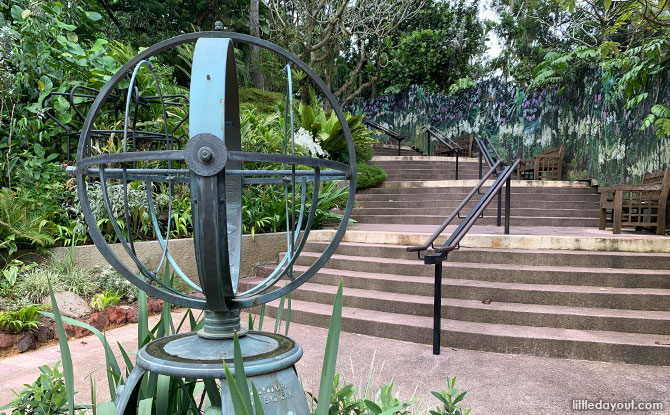 Sundial at National Orchid Garden