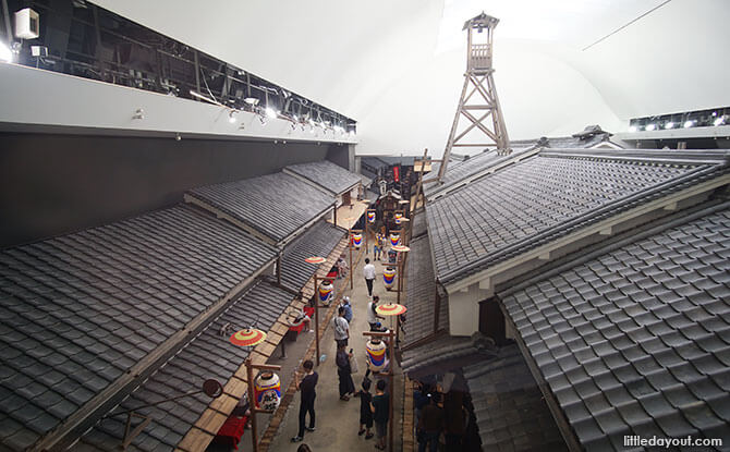 View of recreation of Osaka's streets during the late Edo Period