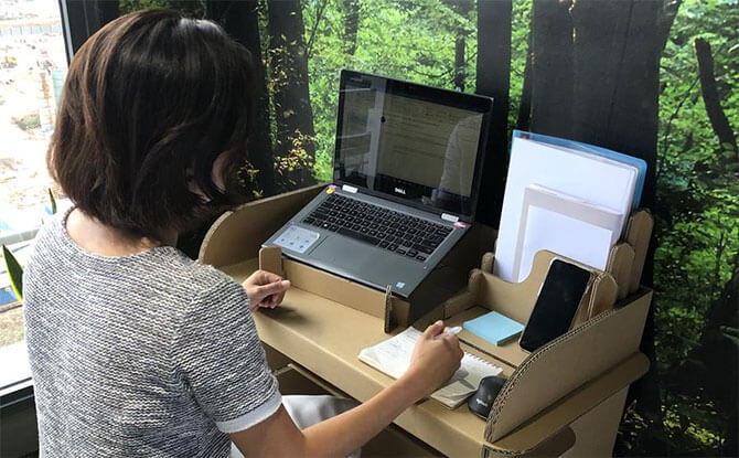 Check Out This Cardboard Desk From Paper Carpenter - POPPI